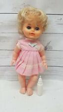 """Vintage Collette Drink n Wet Doll Hard Plastic Sleepy Eyes 11"""""""