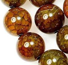 "6mm Yellow Dragon Veins Agate Round Gemstone Loose Beads 15"""
