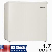 Mini Fridge Small Refrigerator Freezer 1.7 CU FT Single Door Compact Home Office