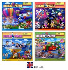 24 Pieces JIGSAW PUZZLE Kids Learning Educational Toy Birthday Christmas Gift UK