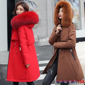 Women's Ladies Winter Warm Parka Long Coat Jacket Hooded Collar Outwear Thick
