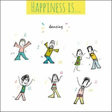 Happiness Is. Dancing Greeting Card Blank Humour Cards