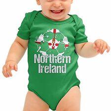 Northern Ireland Football Shirt Green Baby Grow Romper Suit Babygrow Body B40