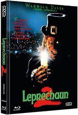 Mediabook LEPRECHAUN 2 II UNCUT Warwick Davis ( Willow ) BLU-RAY Box DVD A Nuovo