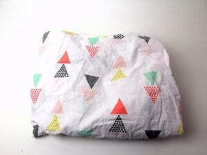 Cloud Island Cotton Fitted Baby Bed Crib Sheet Triangles Geometric Girls Pink