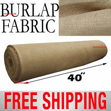 "Burlap Jute Fabric 10 Yards Bolt. {10 Yards x 40"" Wide} Free Shipping!!"