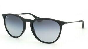 NEW RAY BAN ERIKA RB4171 622/8G MATTE BLACK RUBBER Sunglasses Shades Frames