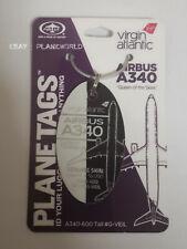 Planetags Virgin Atlantic A340-600 original aircraft skin G-VEIL Purple / White