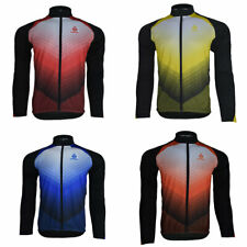 Ento Cycling Jersey Long Sleeve Tops Mens Thermal MTB Full Zip Winter Jackets