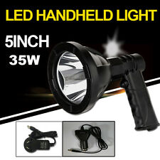 NEW 35W CREE 12V Handheld Rechargeable Torchlight LED Spotlight Hunting Shooting
