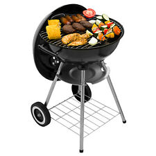 Kettle Barbecue BBQ Grill Outdoor Charcoal Party Patio Portable Round 2 Wheels