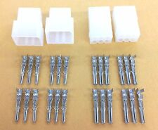 """NEW 2 Pairs of 6 Circuit Molex 0.062"""" Male and Female Connectors with Pins"""