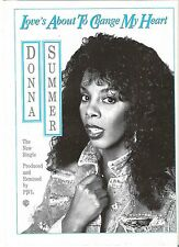 DONNA SUMMER Loves Gonna Change..magazine ADVERT/Poster/clipping 11x8 inches