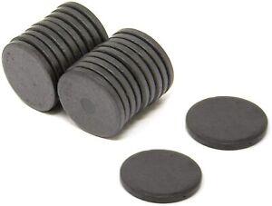 50X Ferrite Disc Magnets 15mm x 3mm | DIY craft fridge magnets school office