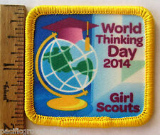 Girl Scout 2014 WORLD THINKING DAY PATCH Friendship Celebration Countries Badge