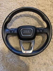 Audi Lenkrad 4M Q7 SQ7 Wippen Silber Naht Heizung