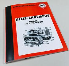 Allis Chalmers Hd 5 Crawler Tractor Owners Operators Manual Hd5 Dozer Loader