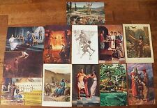 "Lot 12 Bible Art Prints Sunday School OT Beautiful Illustrations LDS 11"" x 17"""