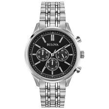 Bulova Men's Quartz Chronograph Silver-tone Bracelet 42mm Watch 96A211