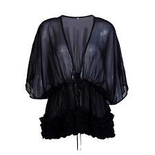 2018 Hot Large Bikini Cover up Swimwear Sheer Beach Maxi Wrap Skirt Sarong Pareo Black M