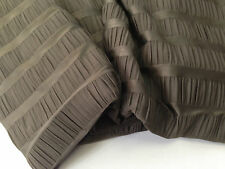 coupon de tissu maille  jersey stech polyester rayures floquee kaki  3 m ref  1