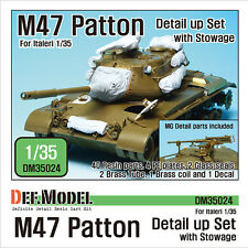 DEF.MODEL, M47 Patton Detail up set- with stowage (for Italeri 1/35), DM35024