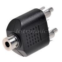 AV Audio Y Splitter Plug Converter Adapter RCA Female Jack to 2 RCA Male Plug