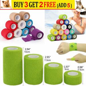 Self-Adhesive Cohesive Wrap Bandage Elastic Waterproof First Aid Gauze Tape UK