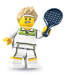 Lego minifig series 7 Tennis Ace player racket shoes 8