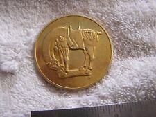 Gold Electroplate on Sterling Silver Franklin Tang Dynasty Horse Medal