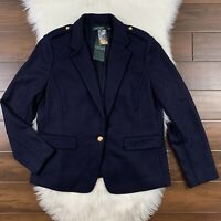 Lauren Ralph Lauren Women's Size 16 Navy Blue Allyce One Button Blazer Jacket