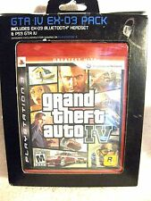 New & Sealed!  Grand Theft Auto IV EX-03 With Bluetooth Headset For PS3 Gioteck