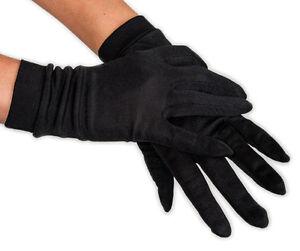 100% Knitted Silk Gloves -- Unisex (Color: Black)