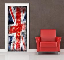 PT0029 Wall Stickers Adesivi Murali Adesivo Porta Union Flag 100x210cm