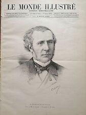 LE MONDE ILLUSTRE 1888 N 1608 M. OCTAVE GREARD, DE L' ACADEMIE FRANCAISE