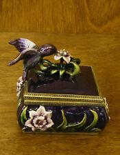 "Jeweled Trinket Box J785 HUMMINGBIRD  BOX, 2"" NEW From Retail Store by Welforth"