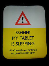 """Funny universel tablette ipad cover case """"Chuuttt! ma tablette dort""""... neuf"""