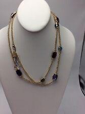 "Anne Klein ""Color Burst"" Gold-Tone Multi-Strand Necklace, 42"" $38 #817"
