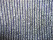 Armani Collezioni Navy Blue Microstripe Cotton LS Mens Shirt Size Medium