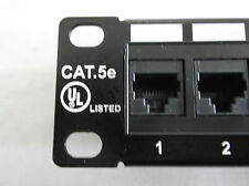 "Finest 19"" 1U Ethernet Patch Panel Available 50u Gold UL Cat5e 24 Port Cat-5e"