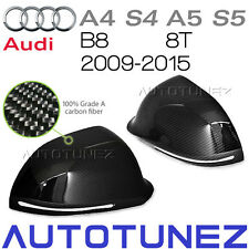 Carbon Fiber Side Mirror Cover Audi A4 S4 A5 S5 B8 8T Signal Black Vacuum Bag