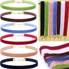 Fashion Velvet strip Choker Necklace Retro Gothic Collar Necklaces Neck Band