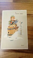 Buon Anno Bonfanti Postcard Boy with Accordian Colour Postcard Bambino