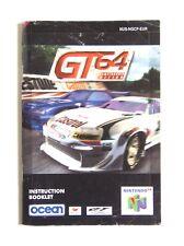 Notice GT 64 Nintendo 64 N64 Eur