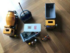 Playmobil 3265 Muldenkipper + 3263 Betonmischer +  Baucontainer 3260 + RC 3670