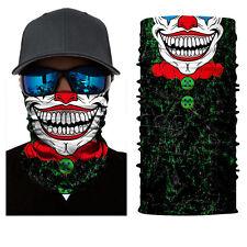 Clown Joker  Face Shield Sun Mask Balaclava Neck Gaiter Neckerchief Fishing