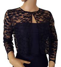 Womens Black or Dark Navy lace Bolero/Shrug UK sizes 8 to 18