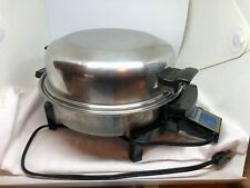 Liquid Core STAINLESS STEEL ELECTRIC SKILLET 900 Watts with Lid Works