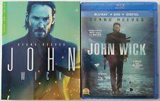 NEW JOHN WICK BLU RAY + DVD 2 DISC SET WALMART EXCLUSIVE SLIPCOVER FREE SHIPPING