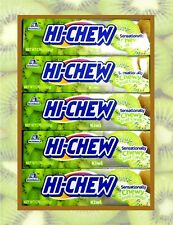 5 Bars HI-CHEW KIWI with Chia Seeds Morinaga Fruit Chews Candy 1.76 oz. Each